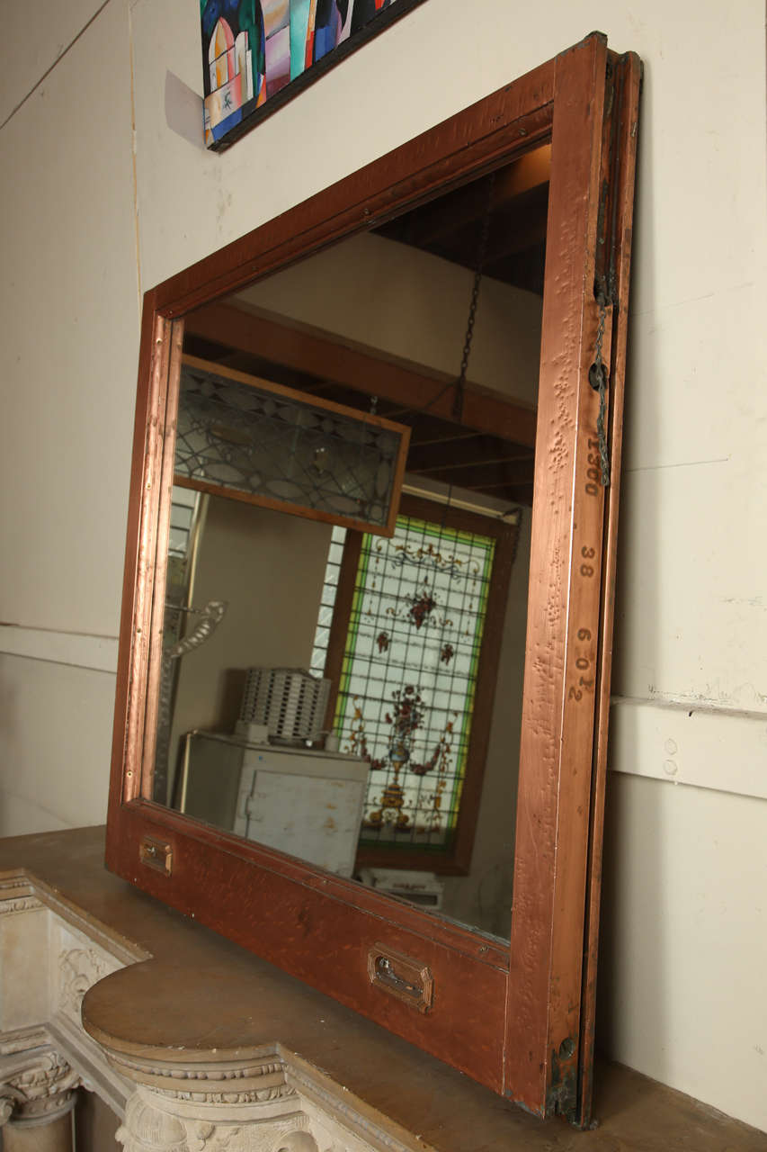 Copper Window Frame Mirror From The Mcalpin Hotel At 1stdibs