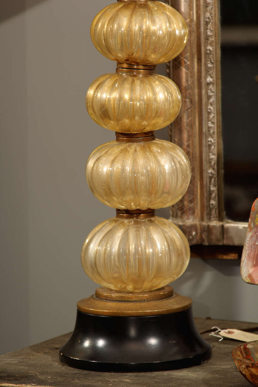 Murano Table Lamp In Good Condition For Sale In Seattle, WA