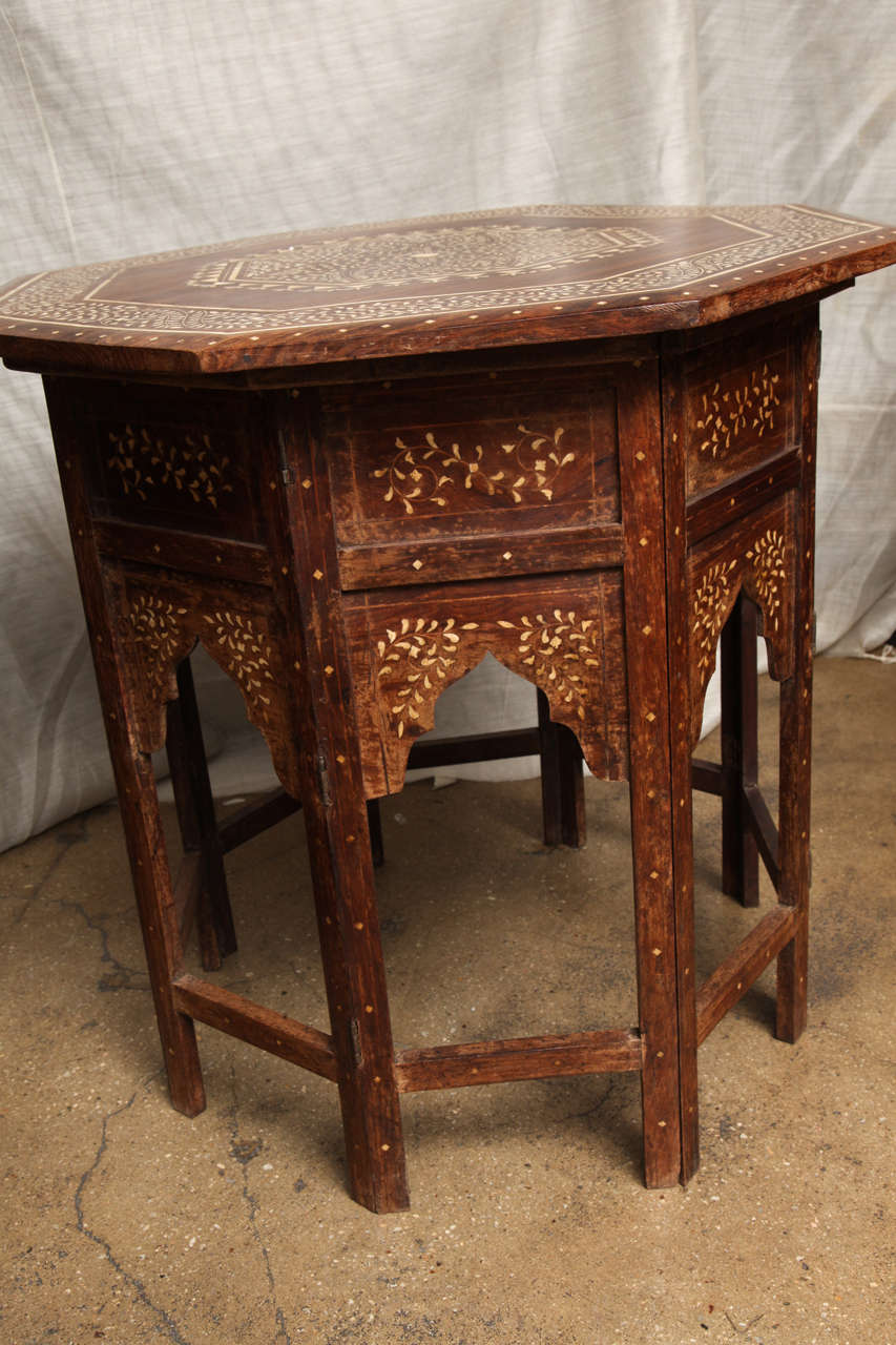 Octagon Side Table ~ Octagonal inlaid side table at stdibs