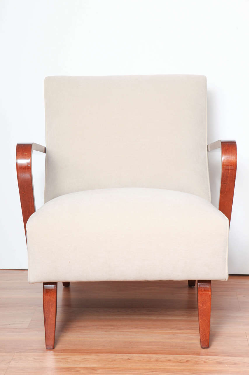 Art deco streamline lounge chairs at 1stdibs - Lounge deco ...