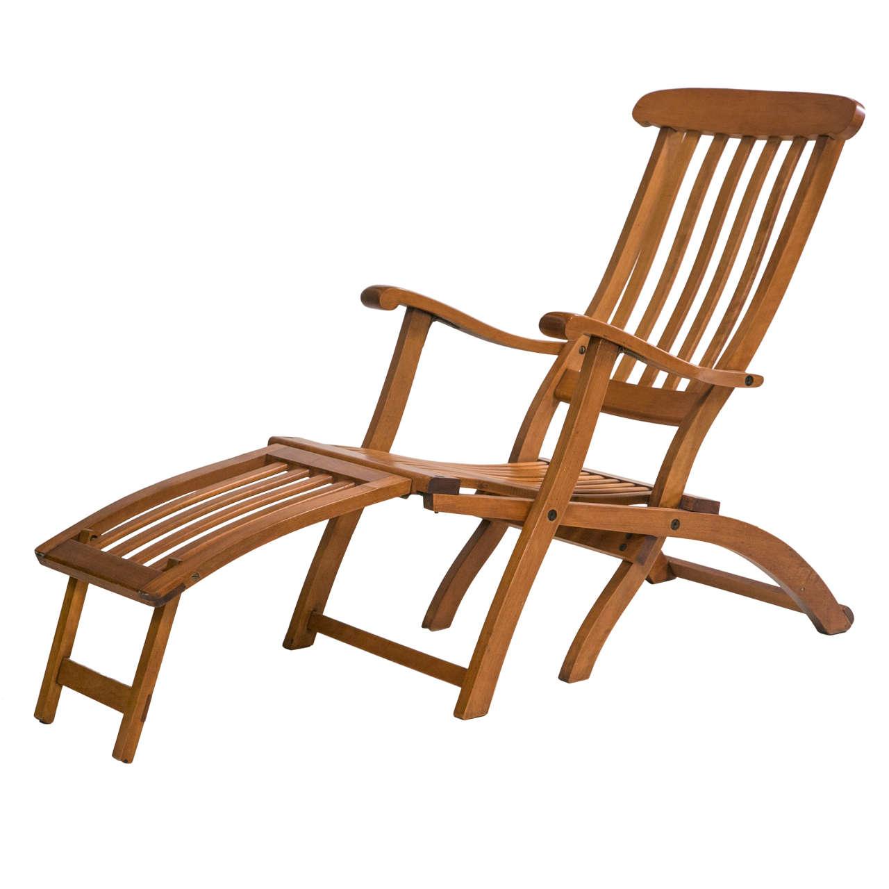 fruit wood deck chair at 1stdibs. Black Bedroom Furniture Sets. Home Design Ideas