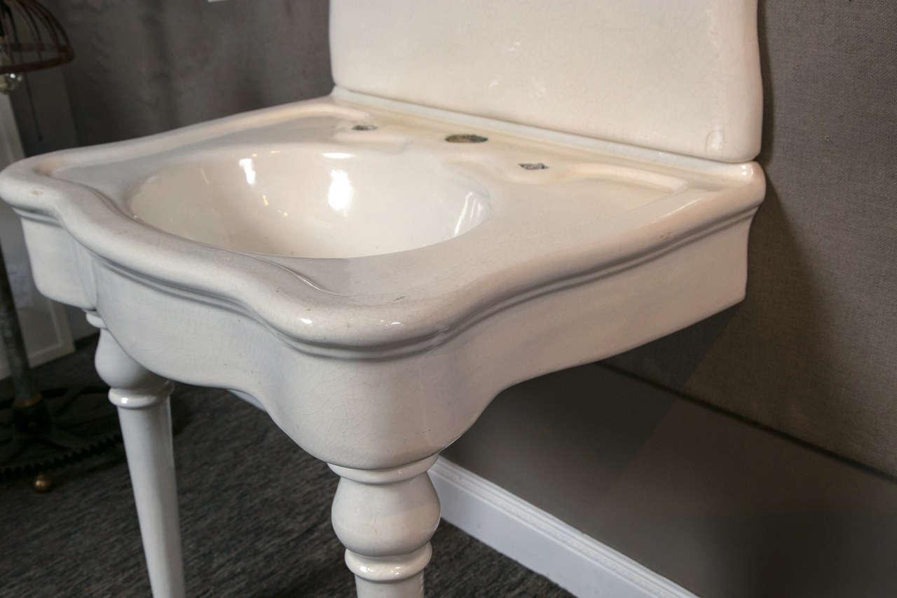 JL Mott Earth ware Bath Sink For Sale 2