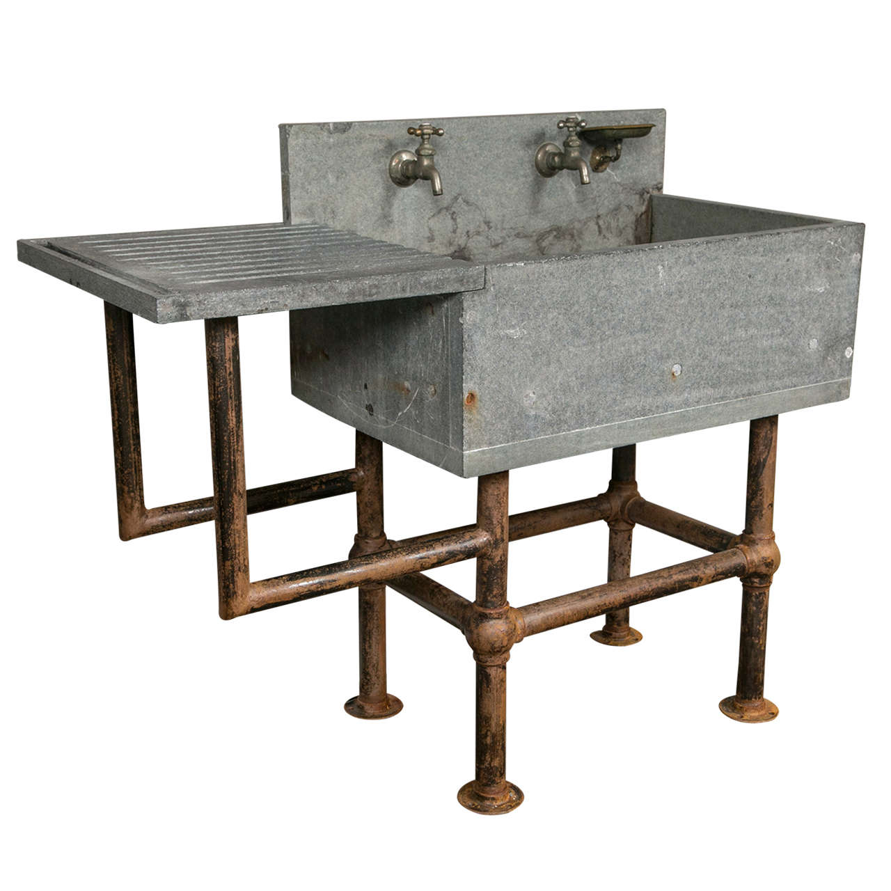 Industrial soapstone sink at 1stdibs for Furniture and fixtures