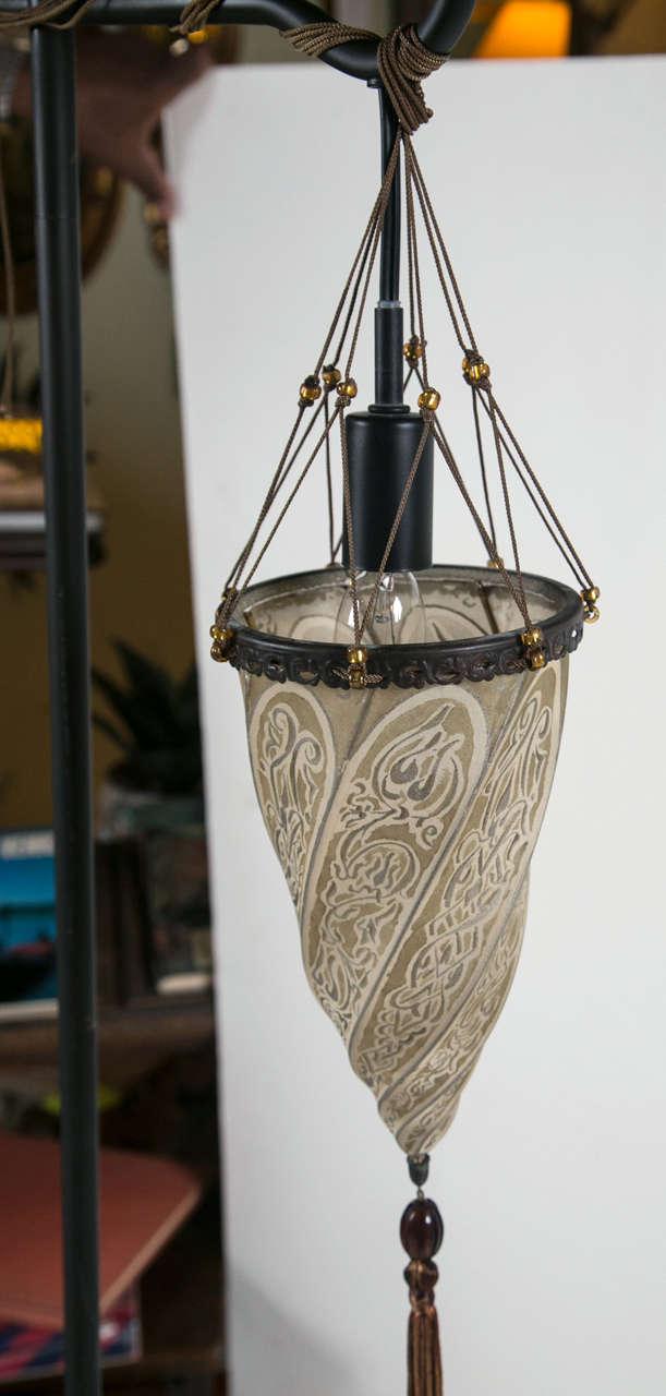 Fortuny Silk Shade By Studium Venetian Lamp At 1stdibs
