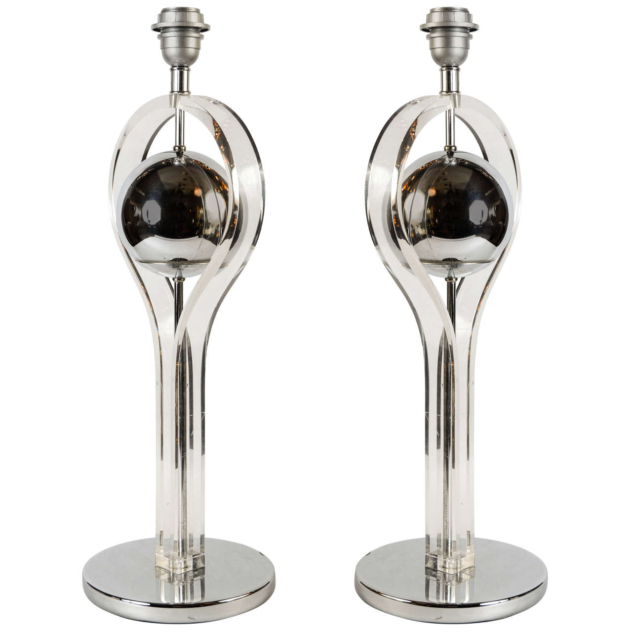 pair of 1970s space age table lamps for sale at 1stdibs. Black Bedroom Furniture Sets. Home Design Ideas