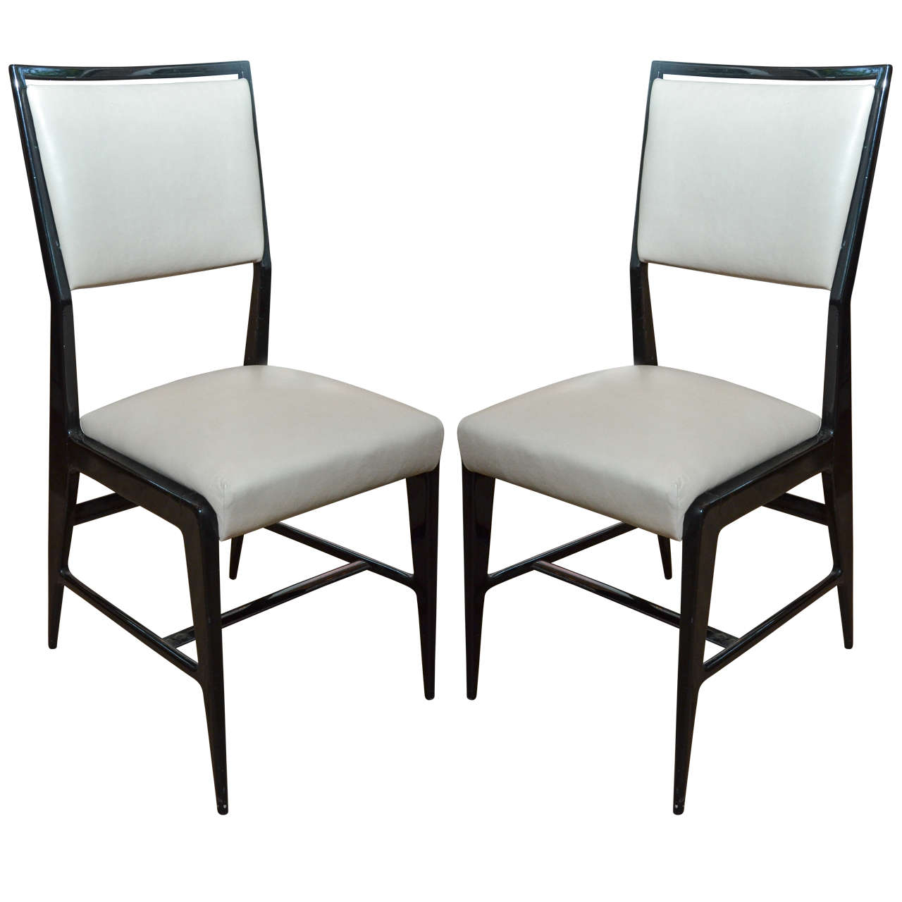Pair of Occasional Chairs Attributed to Gio Ponti For Sale