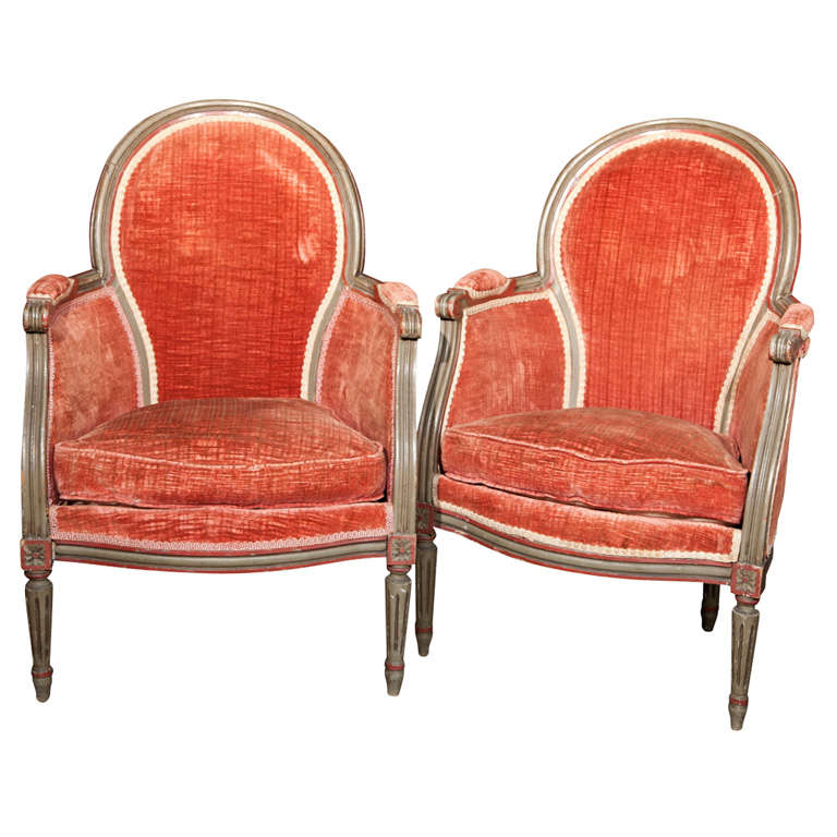 Pair Of Maison Jansen Louis XIV Style Bergere Chairs At 1stdibs