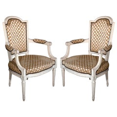 Pair of French Louis XIV Style Armchairs