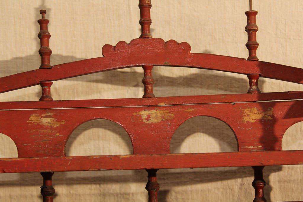Old Paint Folk Art Spool Shelf 3