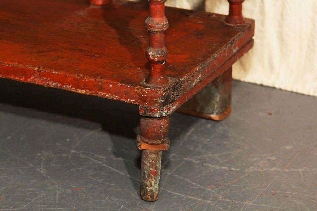 Old Paint Folk Art Spool Shelf For Sale 1