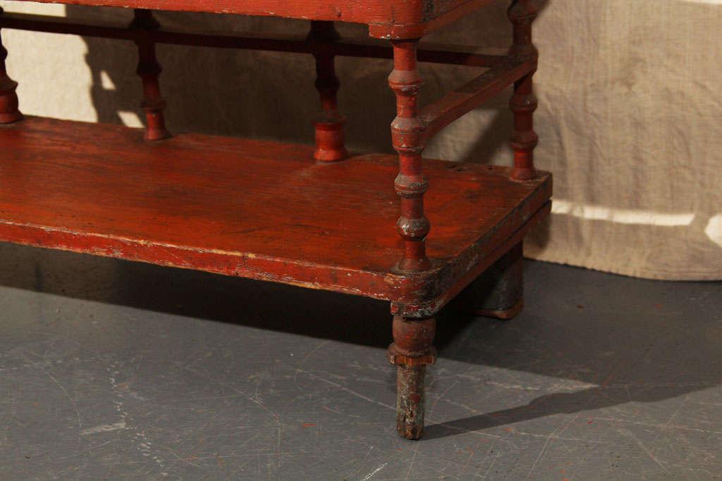 Old Paint Folk Art Spool Shelf For Sale 2