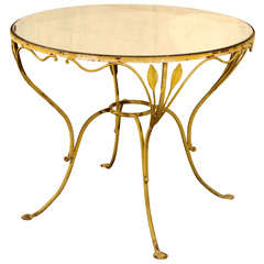 Salterini garden table with mirrored top