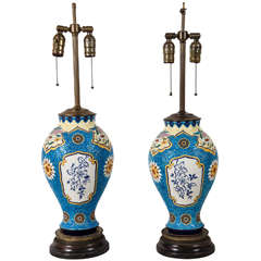 A Pair of Boch Ginger Jar Lamps