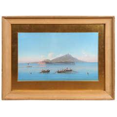 Grand Tour Gouache of Capri