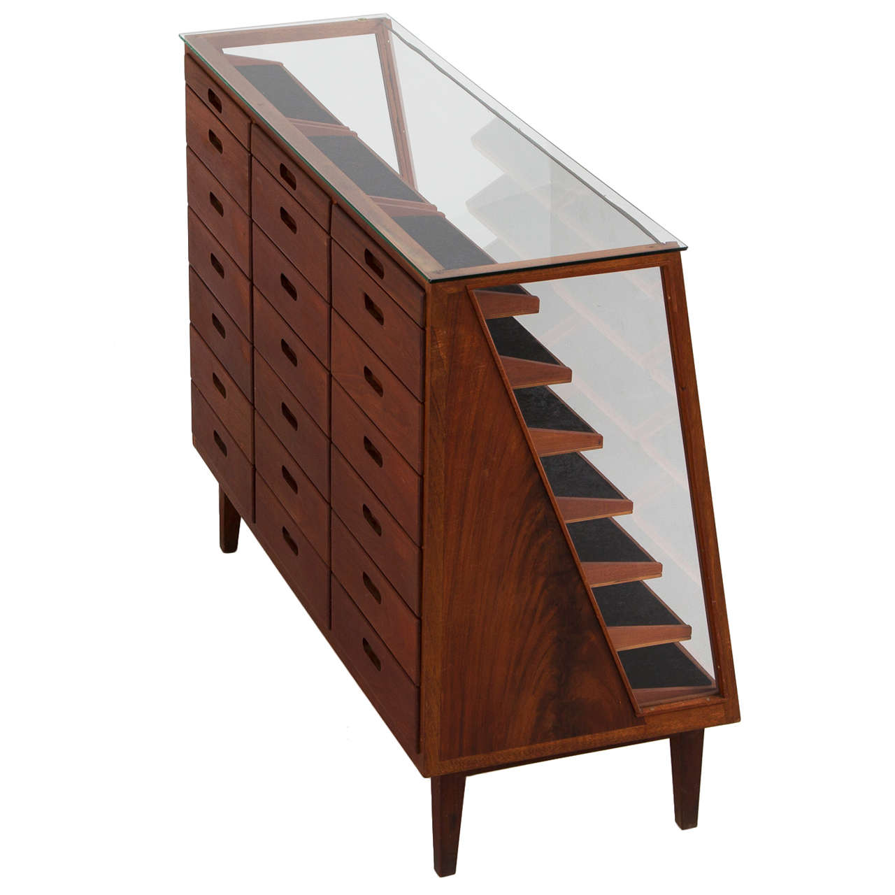 elegant showcase with several drawers at 1stdibs. Black Bedroom Furniture Sets. Home Design Ideas