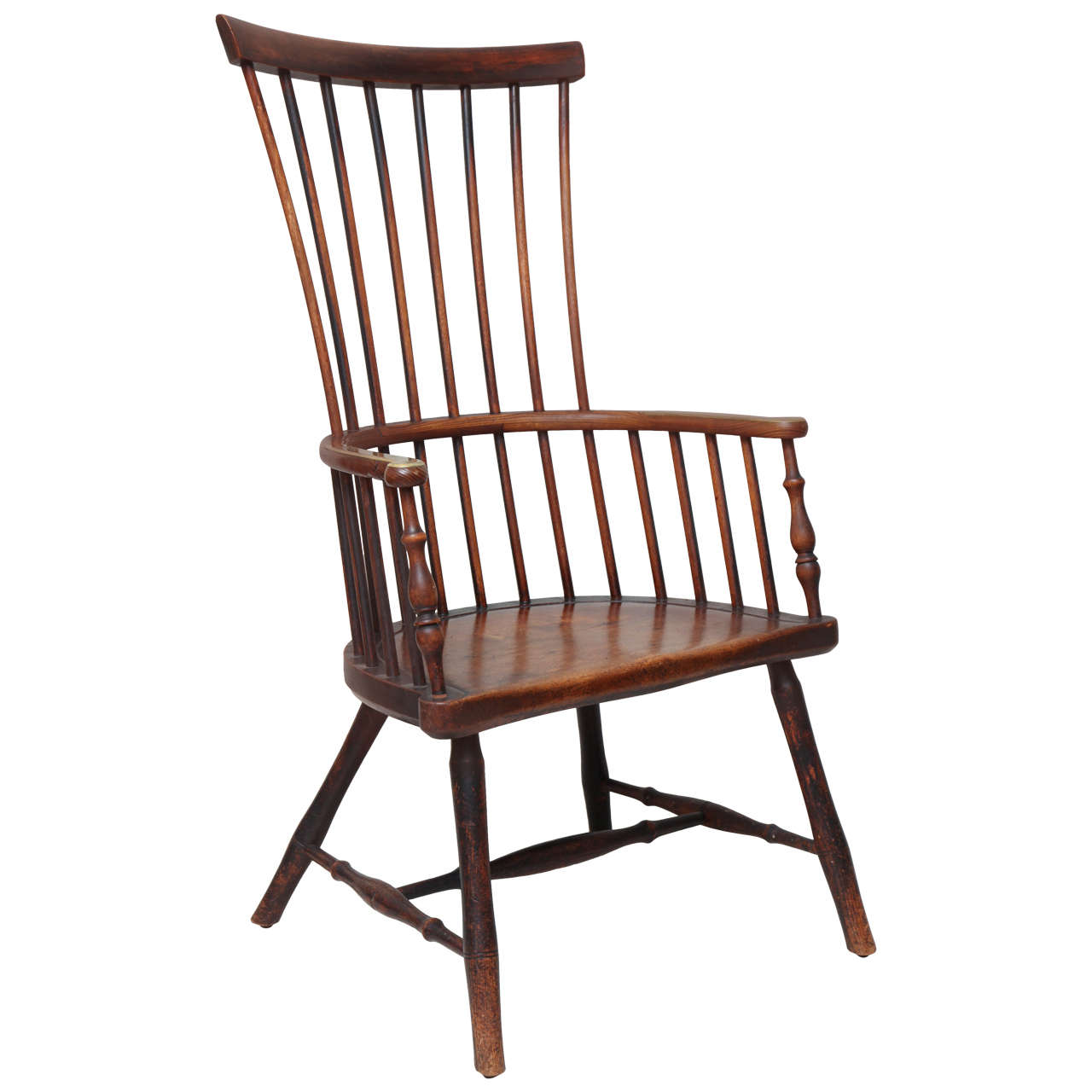 Merveilleux Early 19th Century Scottish Comb Back Windsor Armchair For Sale