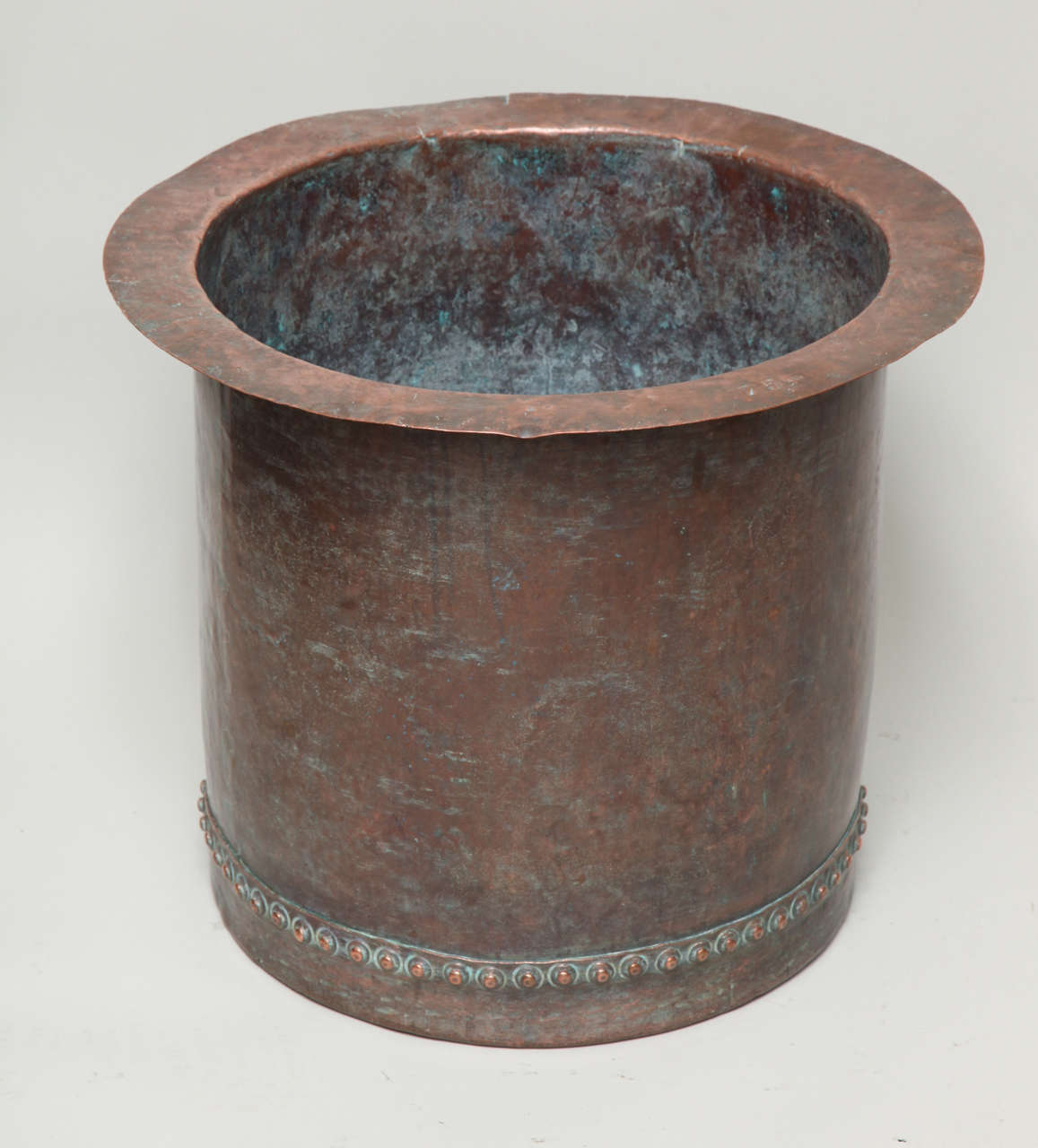 Fantastic Riveted Copper Early 19th Century Oversize Log Bin For Sale 6