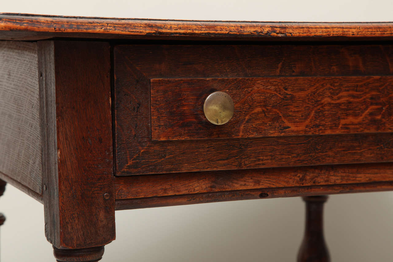 Late 17th Century English Oak and Ash Side Table For Sale 1