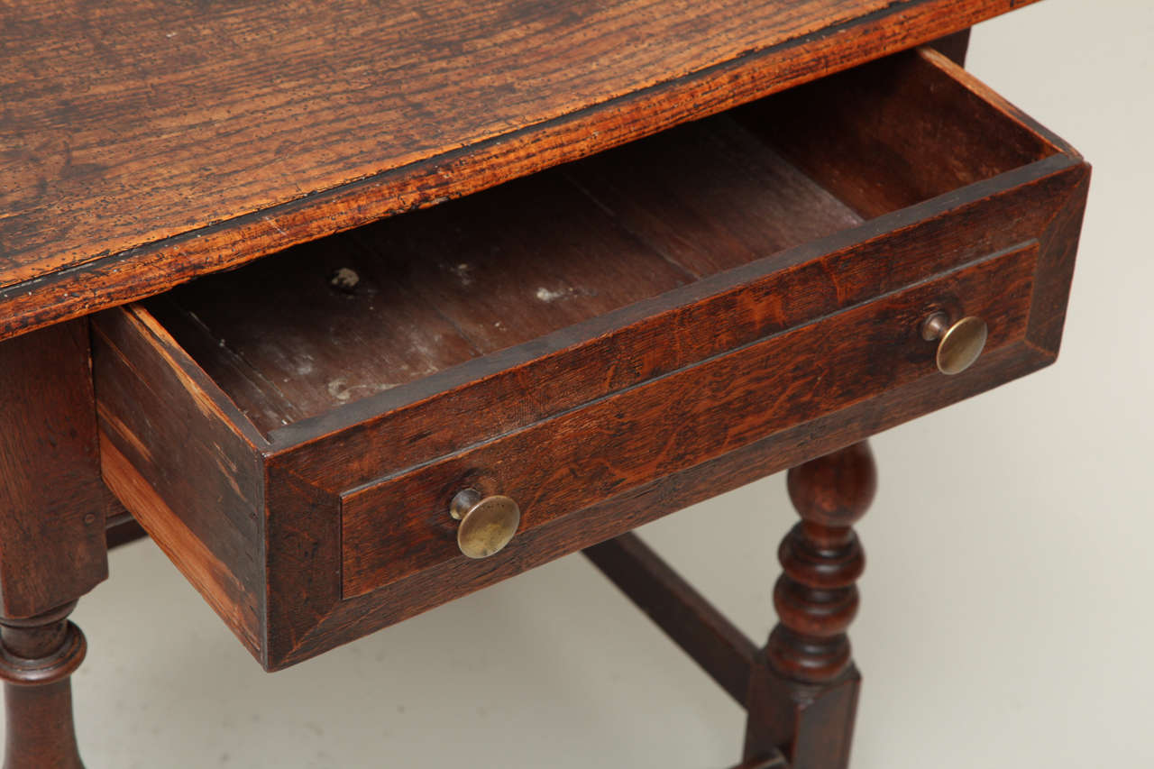 Late 17th Century English Oak and Ash Side Table For Sale 2