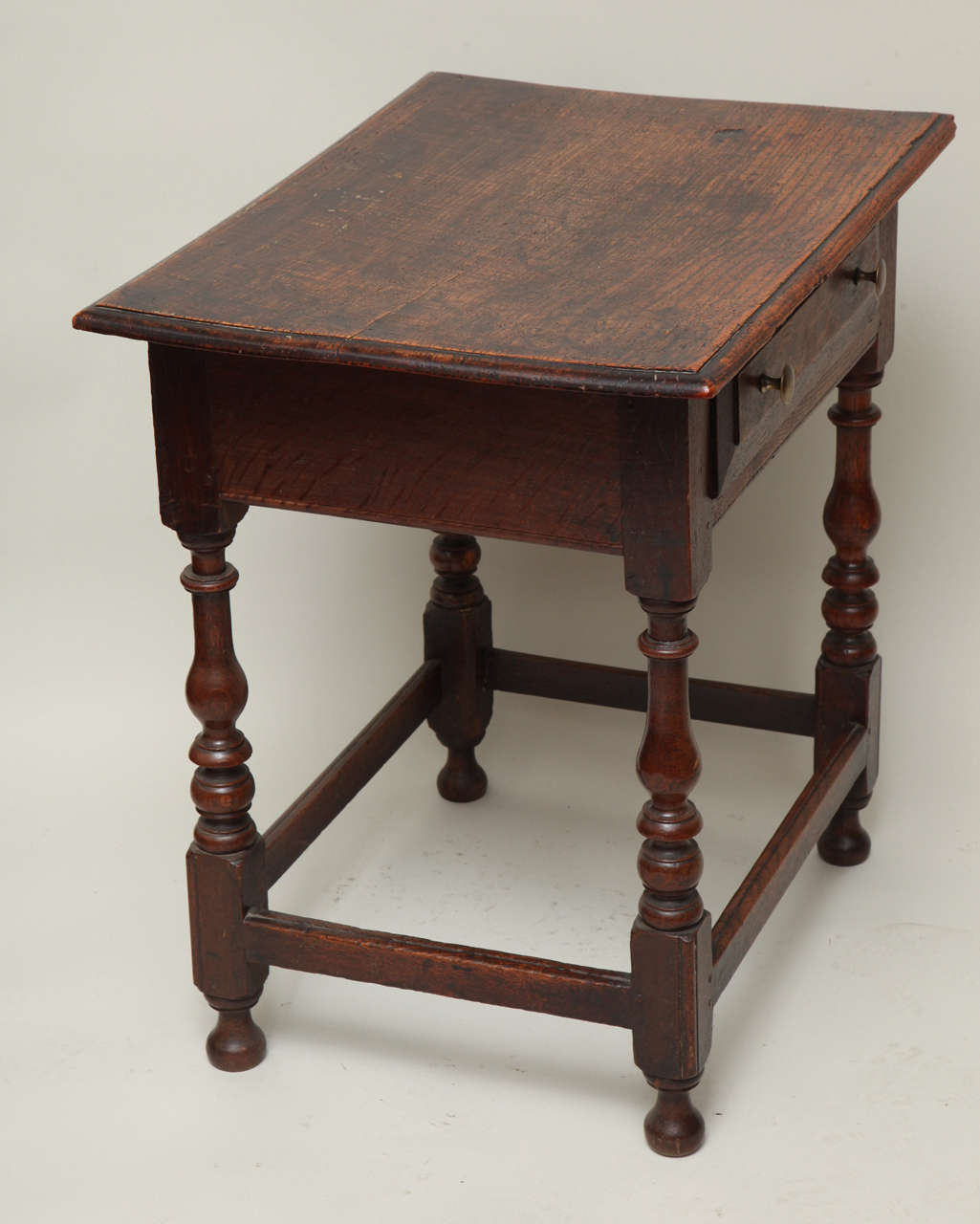 Late 17th Century English Oak and Ash Side Table For Sale 5