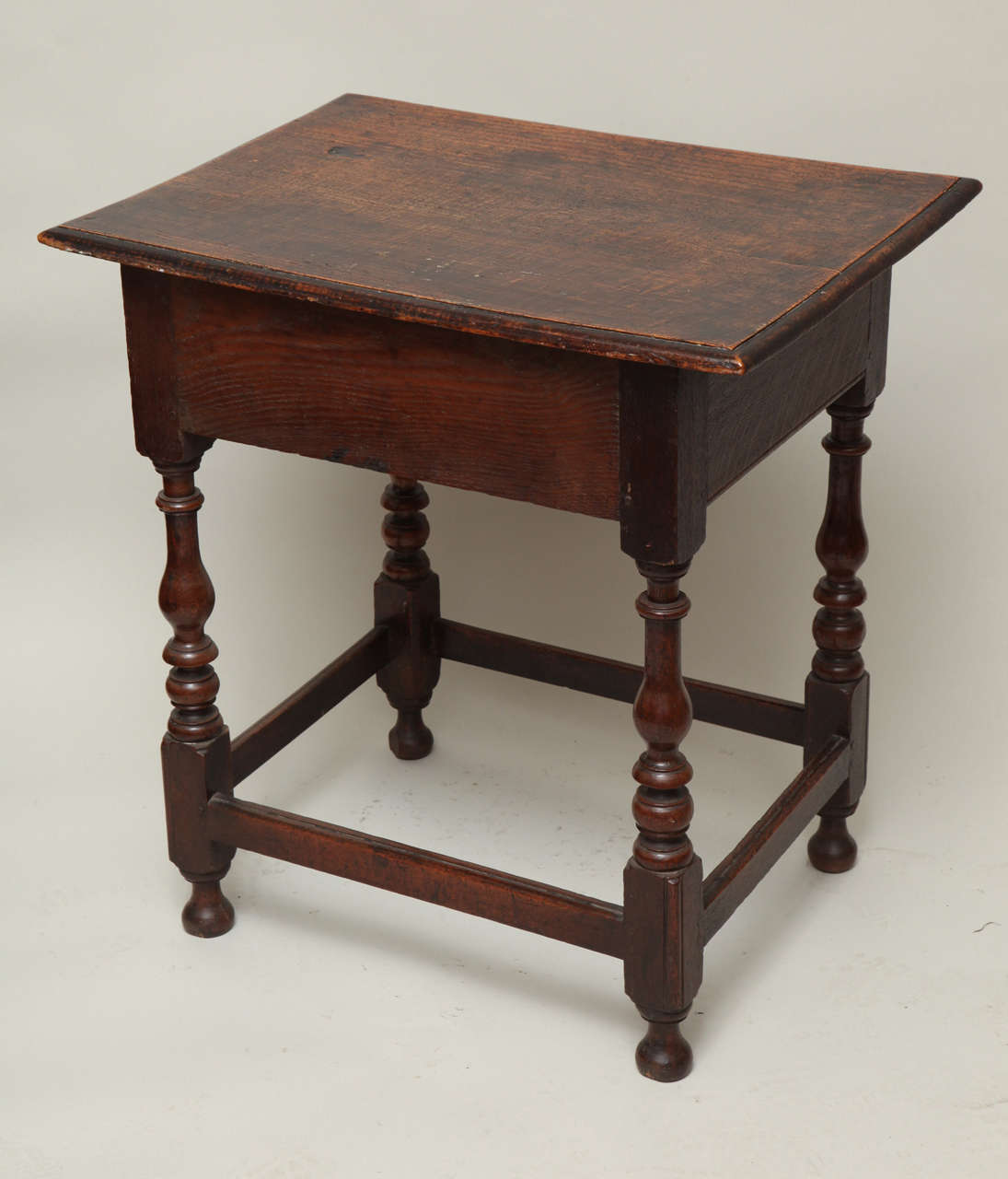 Late 17th Century English Oak and Ash Side Table For Sale 6