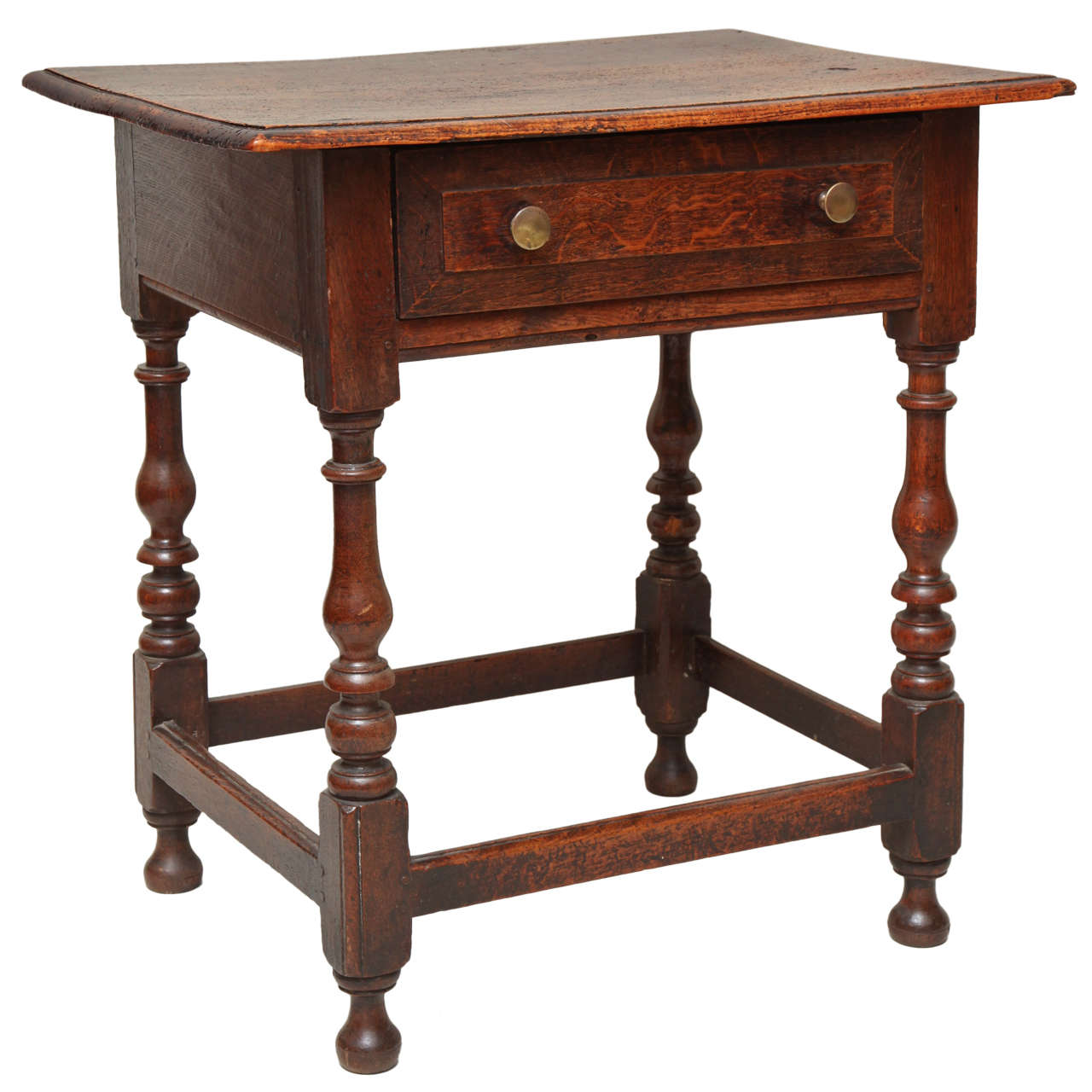 Bon Late 17th Century English Oak And Ash Side Table For Sale