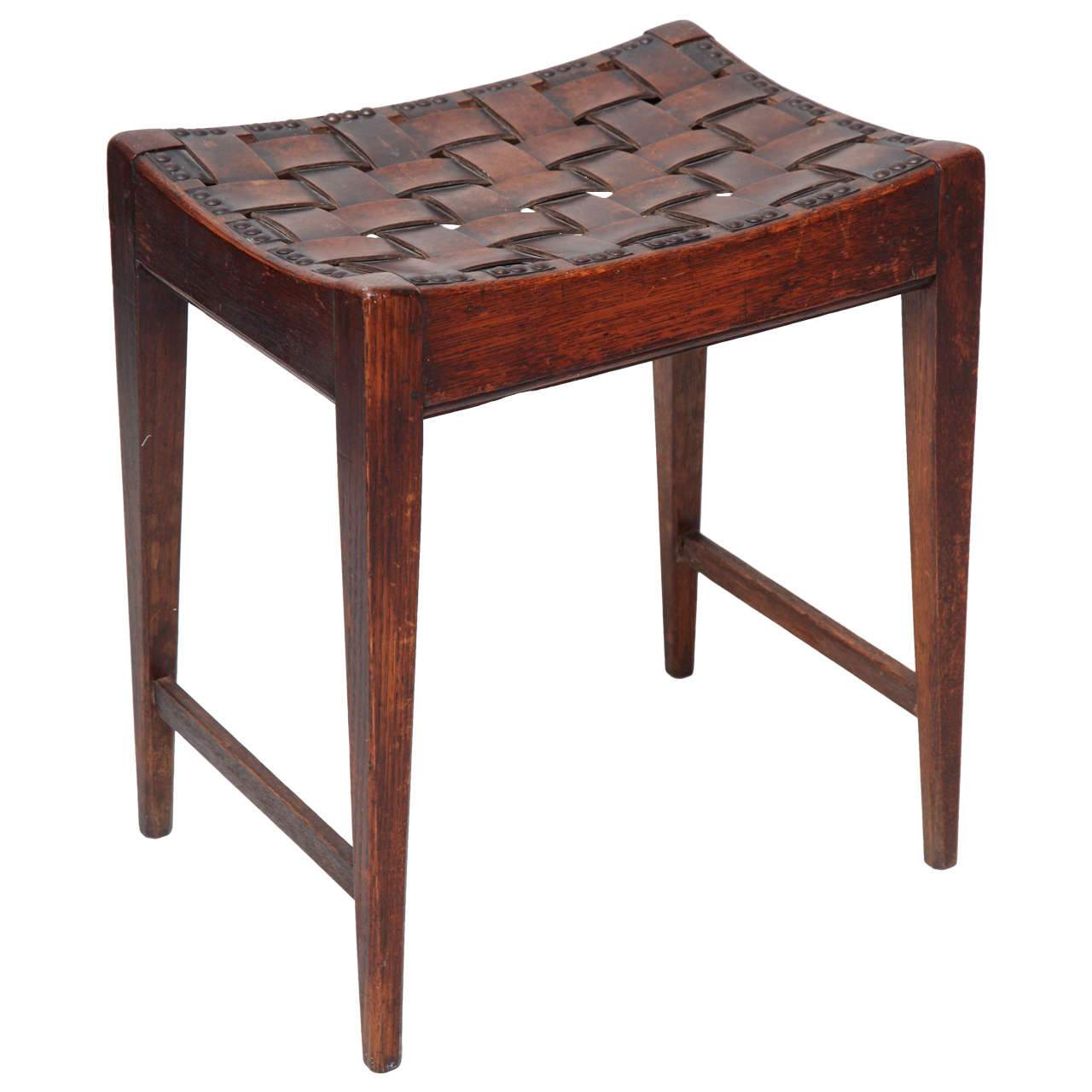 English Arts And Crafts Stool By Arthur Simpson Of Kendall