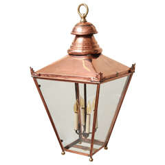 19th Century English Copper and Brass Lantern