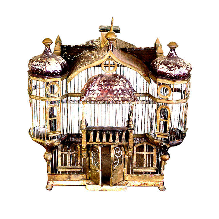 Handmade French Chateau Birdcage
