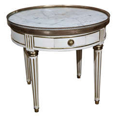 French Painted Louis XIV Style Gueridon Low Table