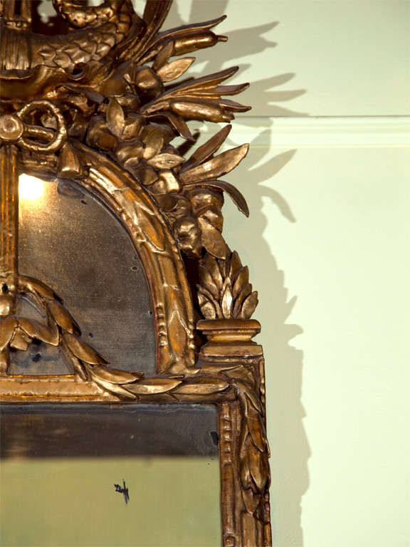 18th Century Italian Carved Giltwood Mirror For Sale 1