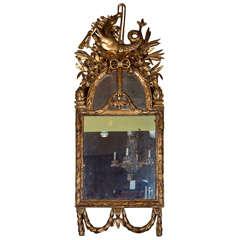 18th Century Italian Carved Giltwood Mirror