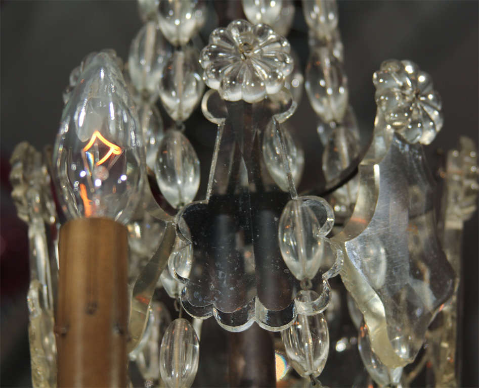 Handsome Glass Bead and Crystal Chandelier For Sale 1