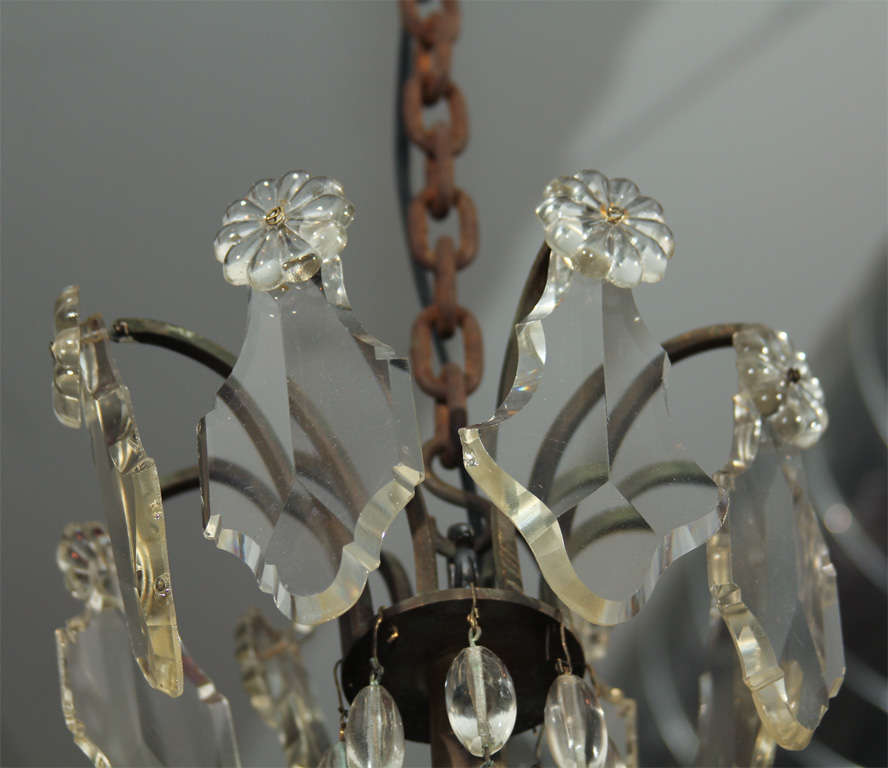 Handsome Glass Bead and Crystal Chandelier For Sale 2