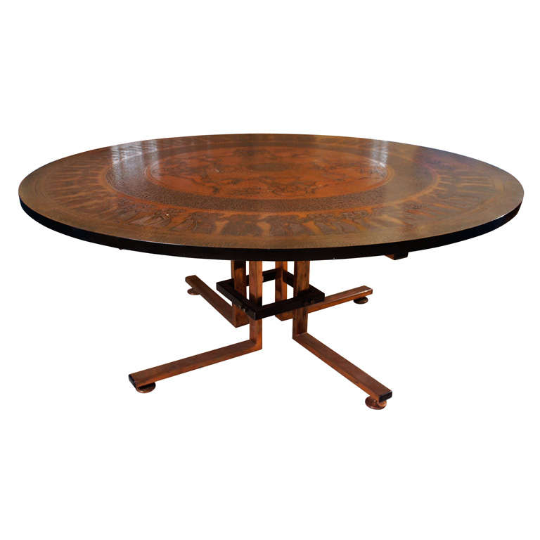 Copper Coffee Table At 1stdibs