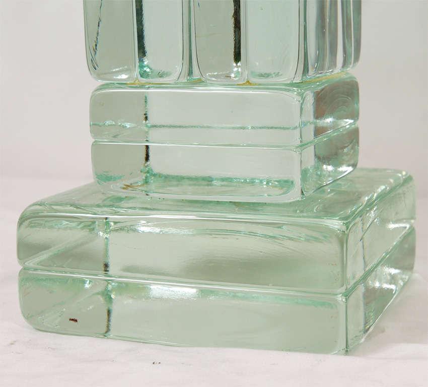Block Glass Table At 1stdibs