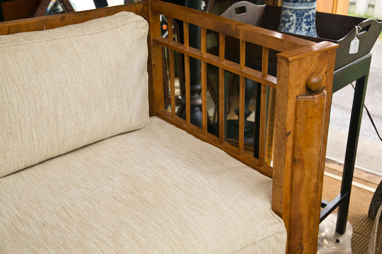Stately Tiger Maple Biedermeier Sofa For Sale 1