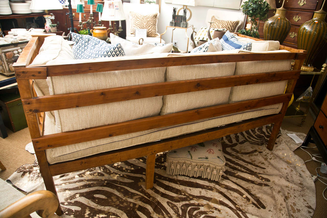 Stately Tiger Maple Biedermeier Sofa In Excellent Condition For Sale In Mt Kisco, NY