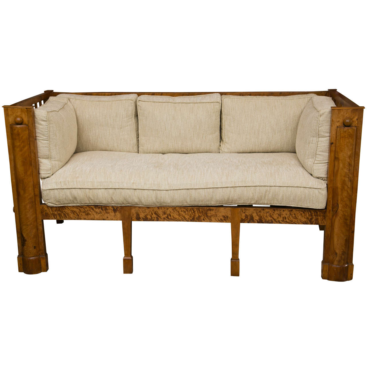 Stately tiger maple biedermeier sofa for sale at 1stdibs Biedermeier sofa