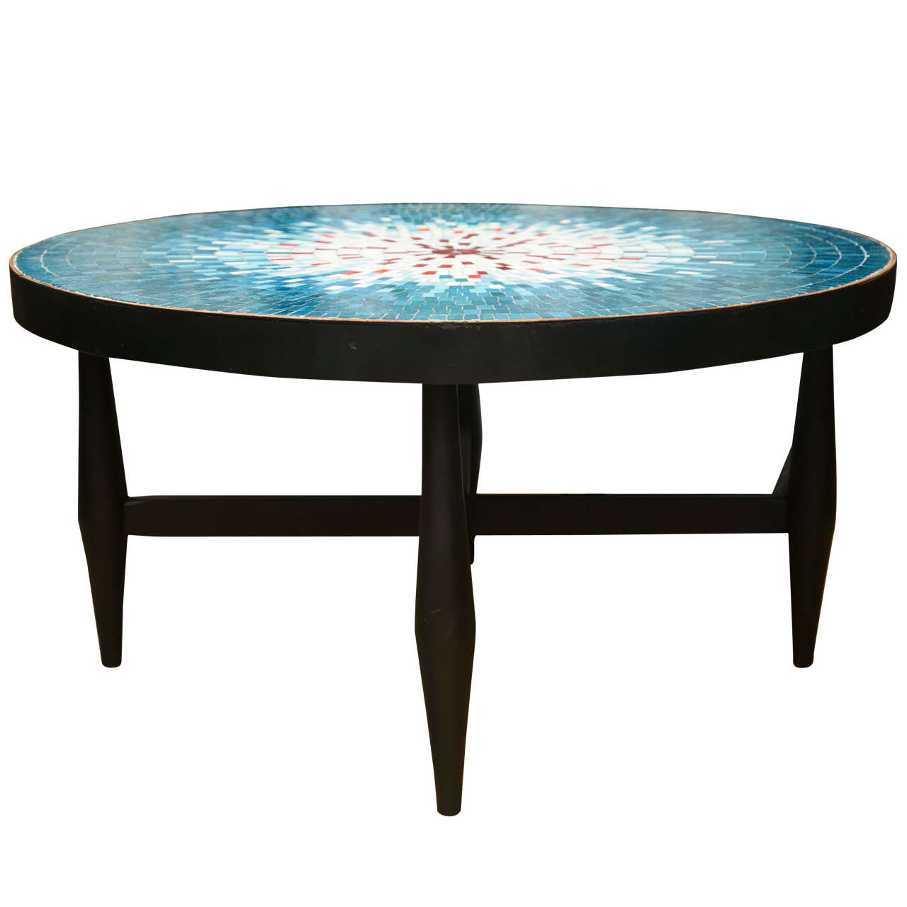 Mid Century Mosaic Tile Art Cocktail Table At 1stdibs