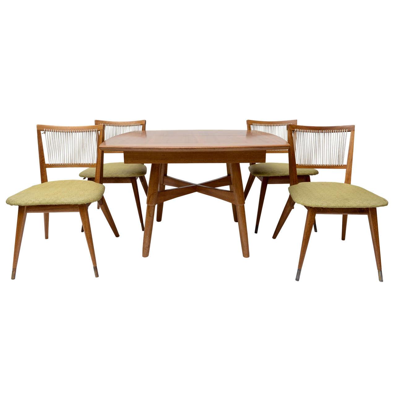 John keal for brown saltman dining table and chairs at 1stdibs for Brown dining table set