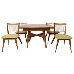 John Keal for  Brown Saltman Dining Table and Chairs