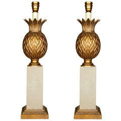 Pair of 1970s Table Lamps in the Style of Maison Charles