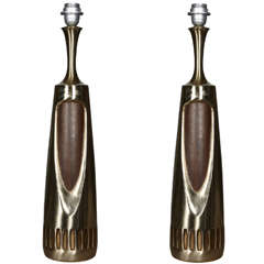 Pair of 1960s Space Age Danish Lamps