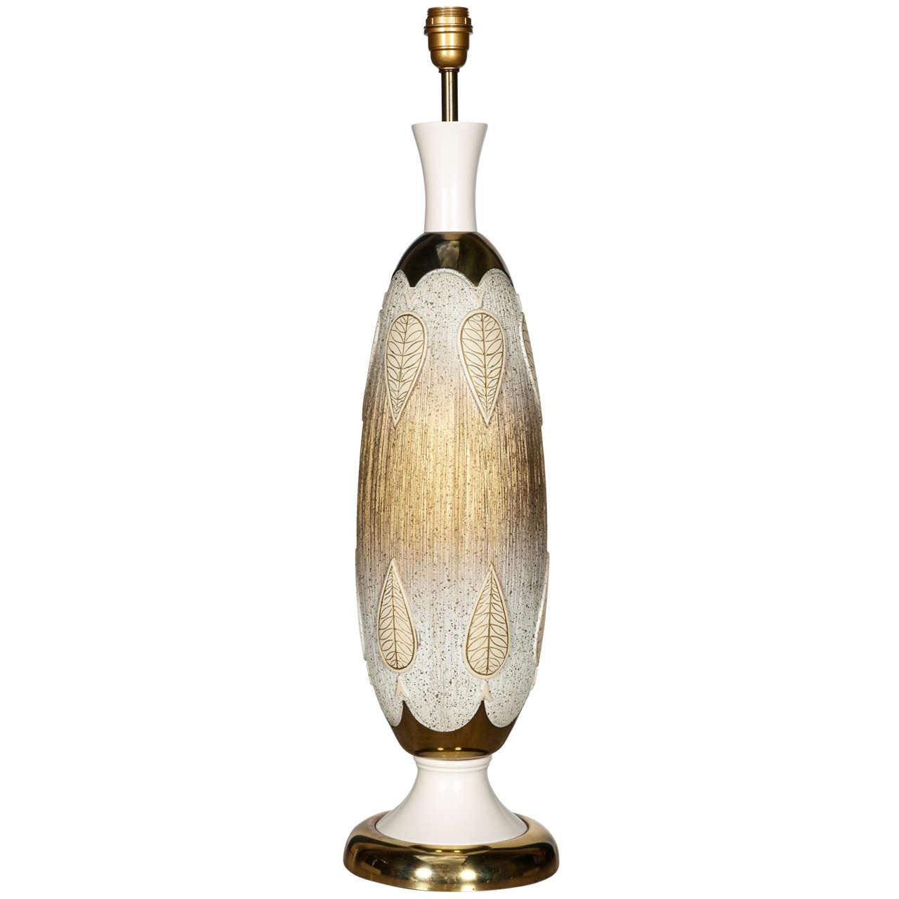 1960s Vallauris Ceramic Lamp