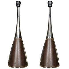 "Pair of Vintage ""Space Age"" Lamps"