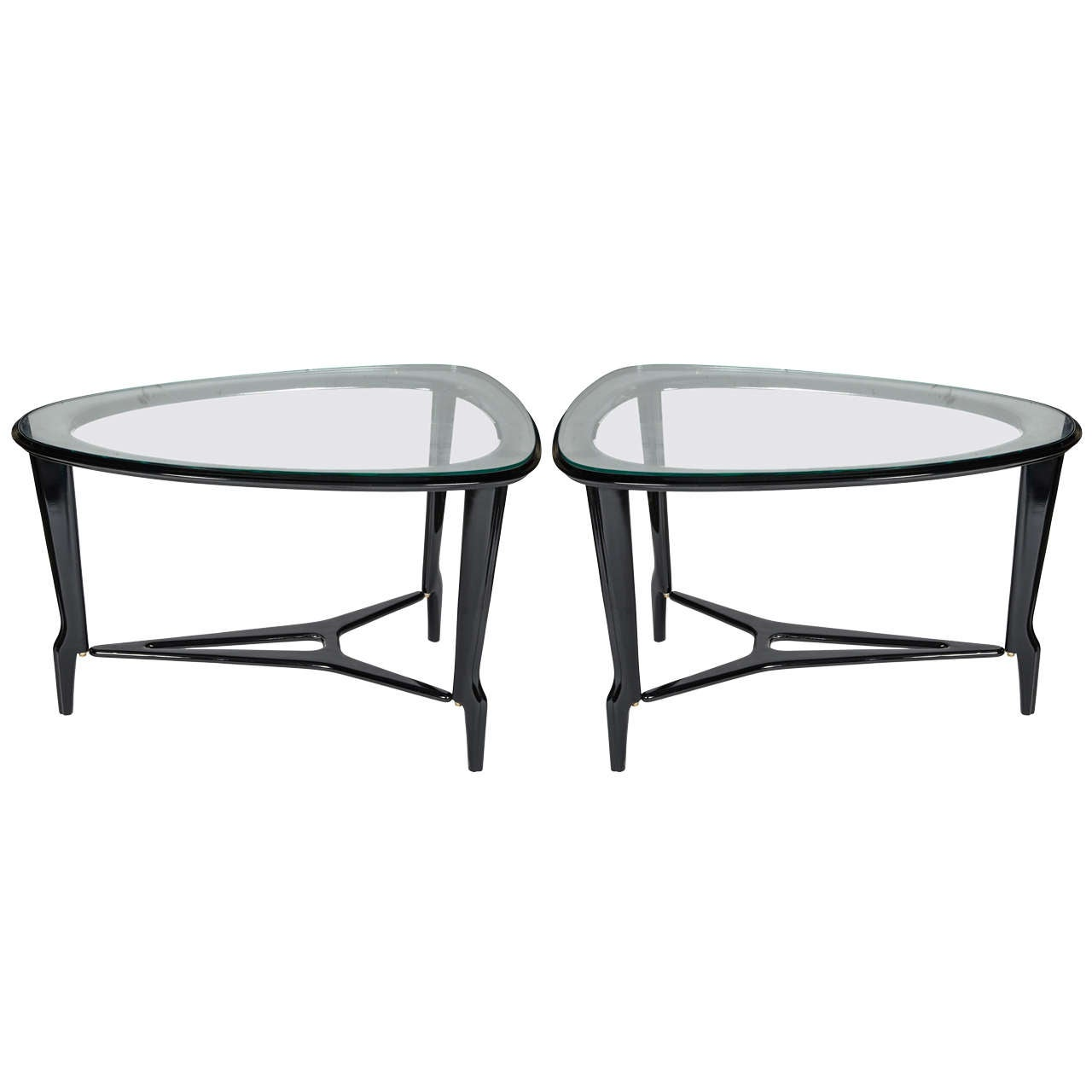 Pair of 1950's  Italian side tables For Sale