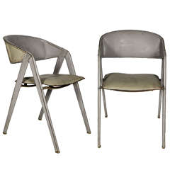 Great 1950's Pair Of Chairs By Jacques Adnet