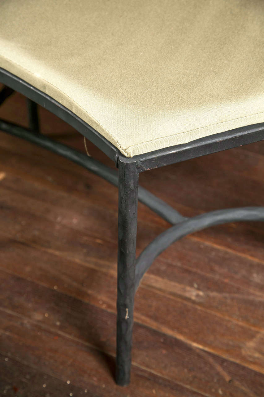 Pair Of Handcrafted Curved Iron Benches At 1stdibs