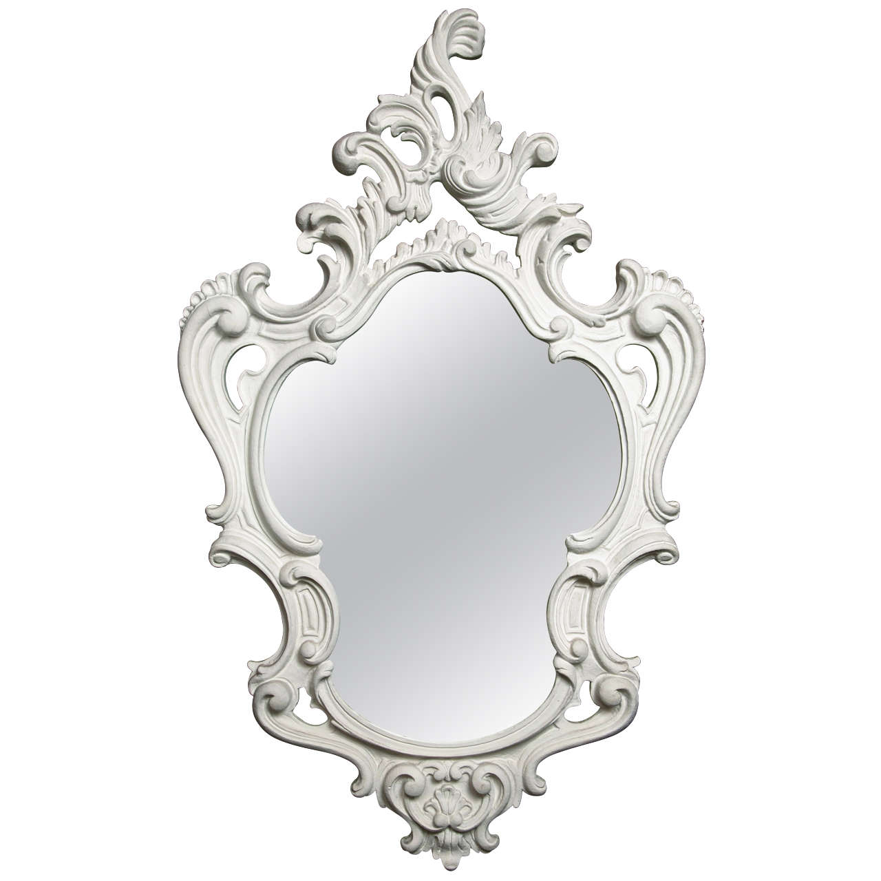 Dorothy draper style baroque plaster mirror at 1stdibs for Baroque style wall mirror